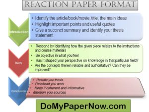 what to write in a reaction paper